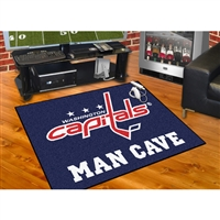 Washington Capitals NHL Man Cave All-Star Floor Mat (34in x 45in)