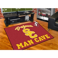 USC Trojans NCAA Man Cave All-Star Floor Mat (34in x 45in)