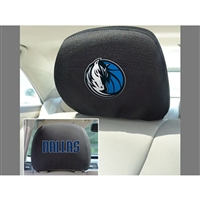 Dallas Mavericks NBA Polyester Head Rest Cover (2 Pack)