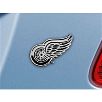 Detroit Red Wings NHL Chrome Car Emblem (2.3in x 3.7in)
