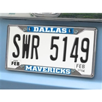 Dallas Mavericks NBA Chrome License Plate Frame