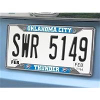 Oklahoma City Thunder NBA Chrome License Plate Frame