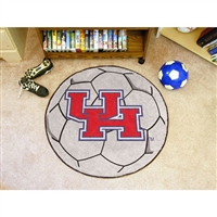 Houston Cougars NCAA Soccer Ball Round Floor Mat (29)