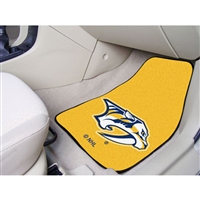 Nashville Predators NHL 2-Piece Printed Carpet Car Mats (18x27)