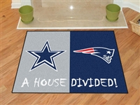 Dallas Cowboys/New England Patriots NFL House Divided NFL All-Star Floor Mat (34x45)