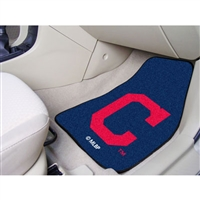 Cleveland Indians MLB 2-Piece Printed Carpet Car Mats (18x27)