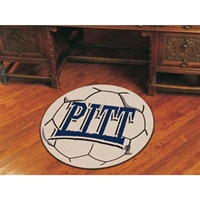 Pittsburgh Panthers NCAA Soccer Ball Round Floor Mat (29)