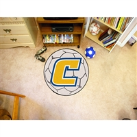 Tennessee Chattanooga Mocs NCAA Soccer Ball Round Floor Mat (29)