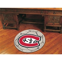 Saint Cloud State Huskies NCAA Soccer Ball Round Floor Mat (29)