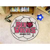Arkansas State Red Wolves NCAA Soccer Ball Round Floor Mat (29)