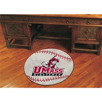 Massachusetts Minutemen NCAA Baseball Round Floor Mat (29)