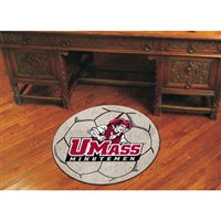 Massachusetts Minutemen NCAA Soccer Ball Round Floor Mat (29)