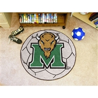 Marshall Thundering Herd NCAA Soccer Ball Round Floor Mat (29)