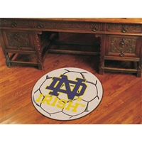 Notre Dame Fighting Irish NCAA Soccer Ball Round Floor Mat (29) ND Logo