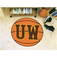 Wyoming Cowboys NCAA Basketball Round Floor Mat (29)