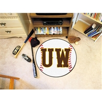 Wyoming Cowboys NCAA Baseball Round Floor Mat (29)