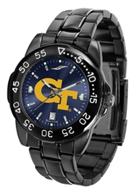 Georgia Tech Yellow Jackets Fantom Sport Watch, Anochrome Dial, Black