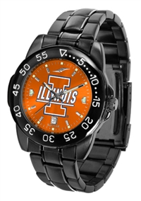 Illinois Fighting Illini Fantom Sport Watch, Anochrome Dial, Black