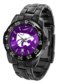 Kansas State Wildcats Fantom Sport Watch, Anochrome Dial, Black