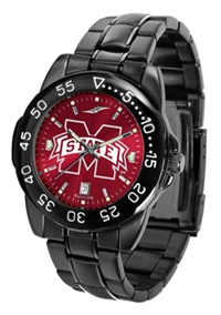 Mississippi State Bulldogs Fantom Sport Watch, Anochrome Dial, Black