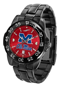 Ole Miss Rebels Fantom Sport Watch, Anochrome Dial, Black