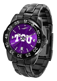 Texas Christian Horned Frogs TCU Fantom Sport Watch, Anochrome Dial, Black