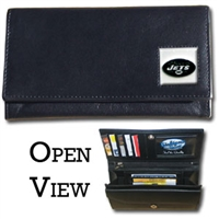 Women's NFL Leather Wallet - New York Jets