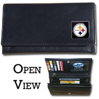 Pittsburgh Steelers Women's NFL Leather Wallet