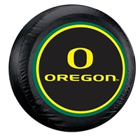 Oregon Ducks NCAA Spare Tire Cover (Large) (Black)