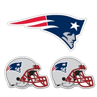 New England Patriots NFL Ultimate Car Magnet Kit (3Pc Set)