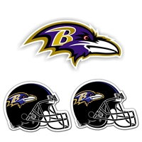 Baltimore Ravens NFL Ultimate Car Magnet Kit (3Pc Set)