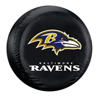 Baltimore Ravens NFL Spare Tire Cover (Large) (Black)