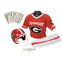 Georgia Bulldogs Youth NCAA Deluxe Helmet and Uniform Set (Medium)