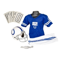 Indianapolis Colts Youth NFL Deluxe Helmet and Uniform Set (Small)