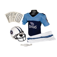 Tennessee Titans Youth NFL Deluxe Helmet and Uniform Set (Small)