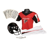 Atlanta Falcons Youth NFL Deluxe Helmet and Uniform Set (Medium)