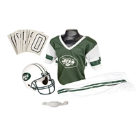 New York Jets Youth NFL Deluxe Helmet and Uniform Set (Medium)