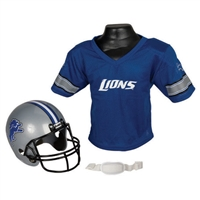 Detroit Lions Youth NFL Helmet and Jersey Set