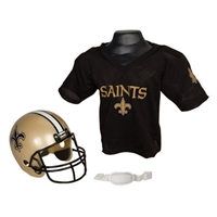 New Orleans Saints Youth NFL Helmet and Jersey Set