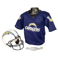 San Diego Chargers Youth NFL Helmet and Jersey Set