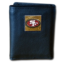 NFL Leather and Nylon Trifold Wallet -  San Francisco 49ers