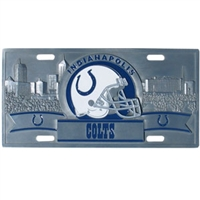 Indianapolis Colts 3D NFL License Plate