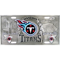 Tennessee Titans 3D NFL License Plate