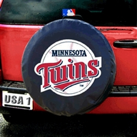 Minnesota Twins MLB Spare Tire Cover (Black)