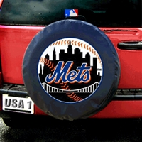 New York Mets MLB Spare Tire Cover (Black)