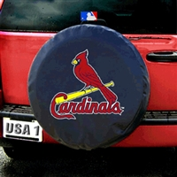 st louis cardinals mlb spare tire cover black