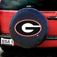 Georgia Bulldogs NCAA Spare Tire Cover (Black)