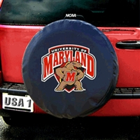 Maryland Terps NCAA Spare Tire Cover (Black)