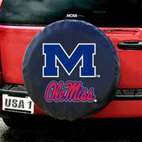Mississippi Rebels NCAA Spare Tire Cover (Black)