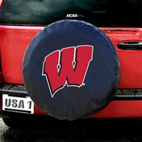 Wisconsin Badgers NCAA Spare Tire Cover (Black)